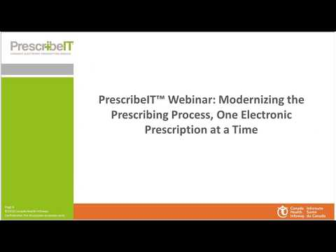 PrescribeIT™: Modernizing The Prescribing Process, One Electronic Prescription At A Time
