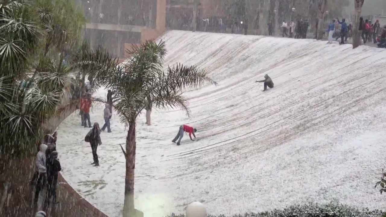Snow in Johannesburg - YouTube