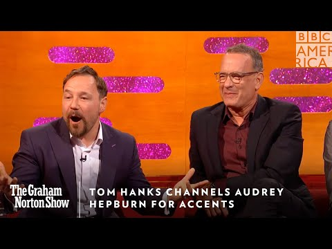 Tom Hanks Channels Audrey Hepburn For Accents | The Graham Norton Show | Friday 11pm | BBC America