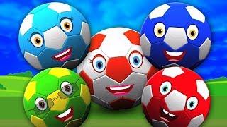 Bola pé Dedo Família   desenho animado   Vídeo para crianças   Kids Song   Foot Ball Finger Family