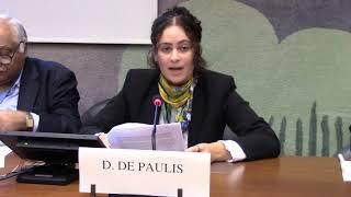 Danielle DePaulis (EFSAS) speaking on Asylum and Terrorism, during 39th Session of UNHRC