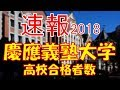 【速報】慶應義塾大学 2018年(平成30年) 合格者数高校別ランキング