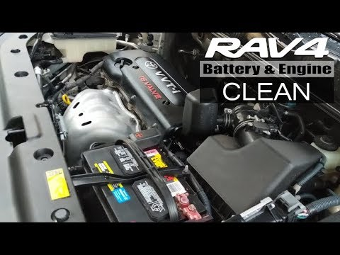 2008 Rav4 Battery And Engine Clean