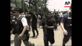 USA - KKK/Black Panther rally