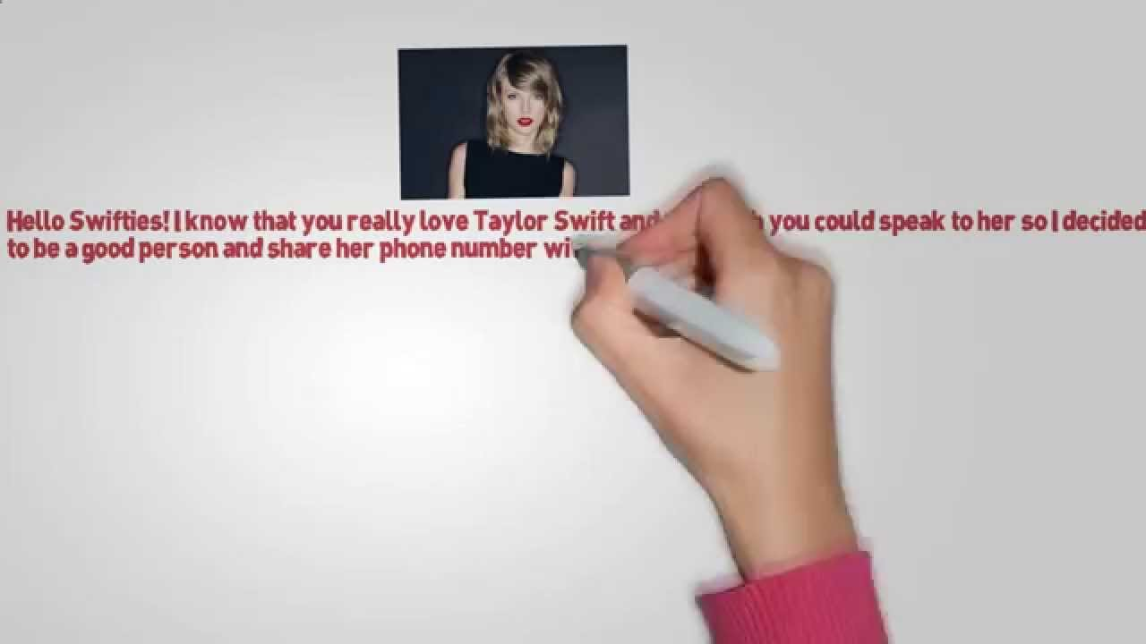 Taylor Swift Phone Number Real December 2017 Youtube