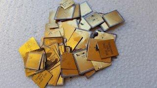 Como extraer ORO de chapas bañadas en oro.How to extract Gold from plated caps.