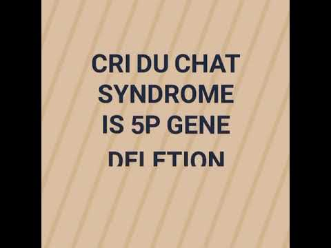 Cri Du Chat Is Which Gene Deletion ? #pediatricsbydranand