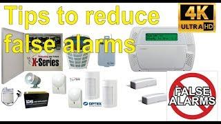 Tips to reduce false burglar alarms