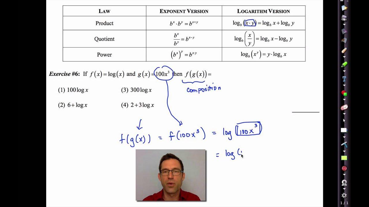 Common Core Algebra Ii.unit 4.lesson 10.logarithm Laws
