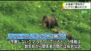 Нападение медведя на людей - видео новости на японском языке
