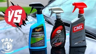 Meguiar's Hybrid Ceramic Wax VS Turtle Wax Ice Seal N Shine VS Mothers CMX !!