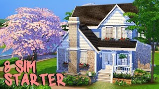 8 SIM STARTER HOUSE 💕  | The Sims 4 | Speed Build