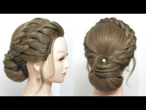 Bridal Bun Hairstyle For Long Length Hair