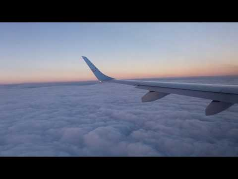 landing through the clouds, Nador aroui airport 2017 هبوط عبر السحاب إلى مطار العروي