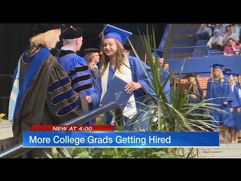 More college grads getting hired, new survey discovers