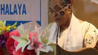 Mrinalini Devi receiving Social Work Excellence Award 2017 conferred by USTM
