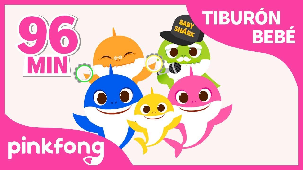 Tiburón Bebé y más canciones infantiles | El Mes de Tiburón Bebé | +Recopilación | Pinkfong