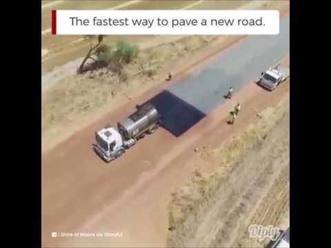 Fastest road construction in the world