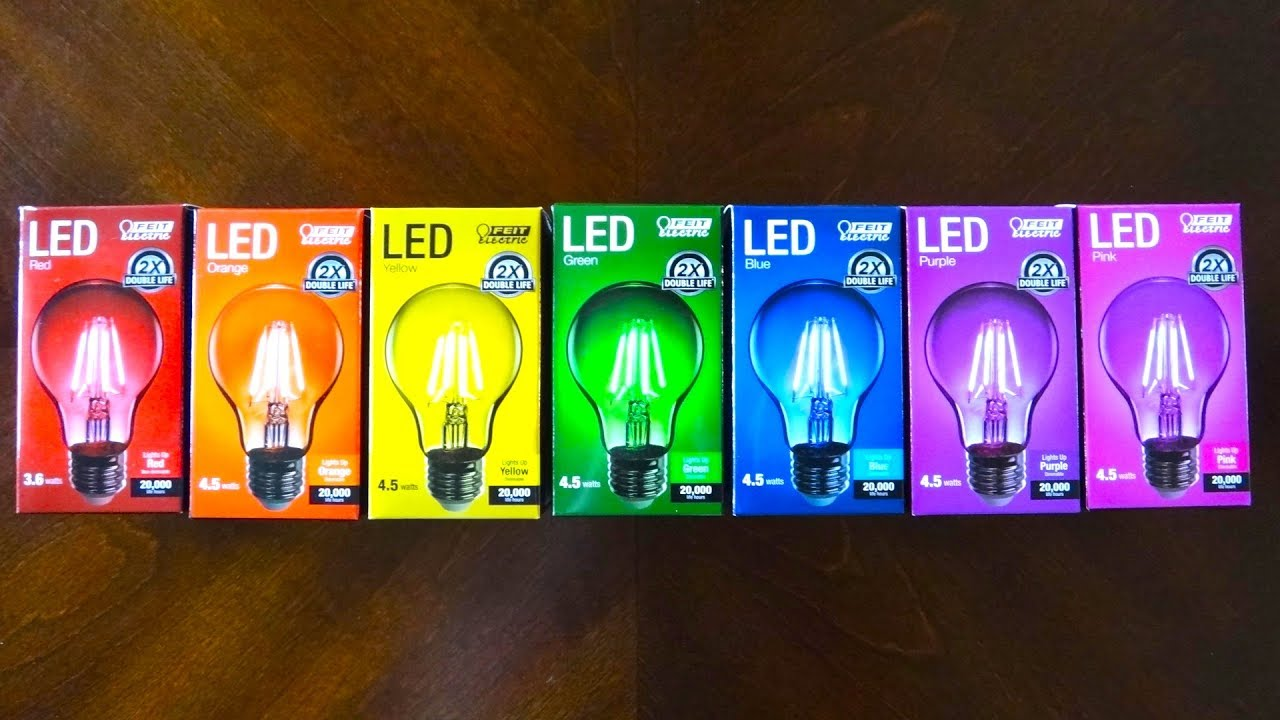 FEIT Colored Filament LED Light Bulbs