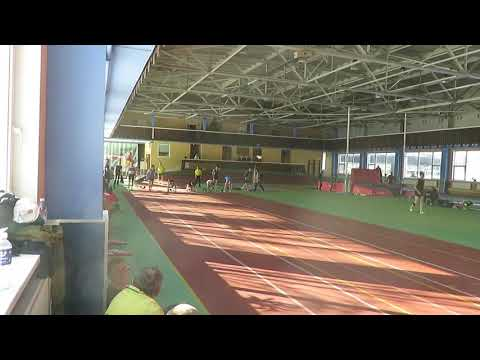 60m run 02 for man in Lithuania master athletics open Klaipeda, 24.02.2018