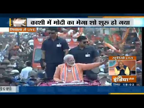 PM Modi's Mega Roadshow In Varanasi, Massive Crowd Emerges On The Streets | Full Coverage