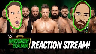 WWE MONEY IN THE BANK 2018 REACTION STREAM!