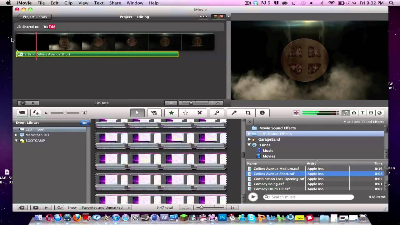 imovie add music to video