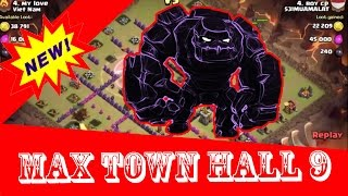 Clash of clans - Town hall 9 (th9) best war with Golem + Wizard clear town hall9