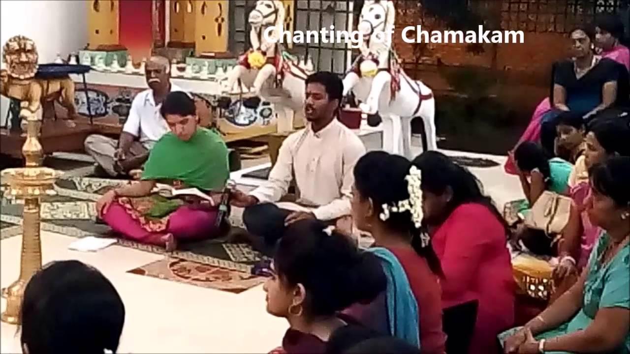 Vedic chanting ( Rudram ) @ Shaiva Muniswaran temple Butterworth