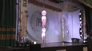 Noemi Graber & Mandana Bahrami MIXED DOUBLES PRELIM - WORLD POLE SPORTS CHAMPIONSHIPS 2014