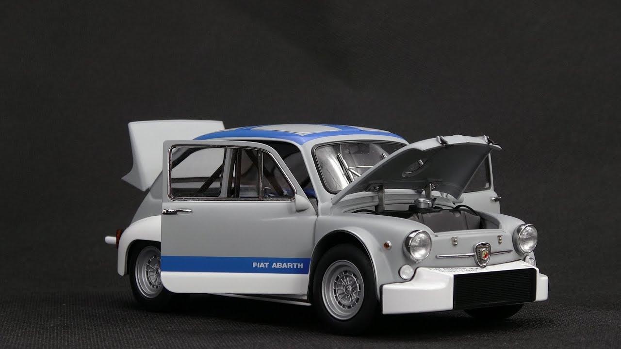 Fiat Abarth 1000 Tcr Matt Grey Blue Stripes 1 18 Autoart