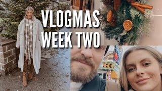 VLOGMAS - WINTER WONDERLAND, CHRISTMAS WREATH MAKING & NEW IN BITS | Fashion Influx