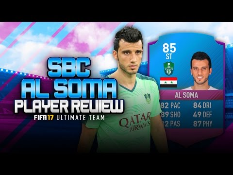 FIFA 17 SBC AL SOMA REVIEW! (85 AL SOMA) - THE SYRIAN IBRA - FIFA 17 ULTIMATE TEAM PLAYER REVIEW
