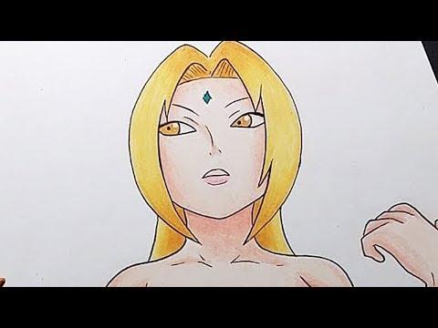Drawing Tsunade Senju (Naruto Shippuden) | Dibujando a Tsunade