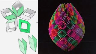 SNAPOLOGY || Fancy paper decoration ideas || 3D ORIGAMI PAPER BALL || BASIC VIDEO #1