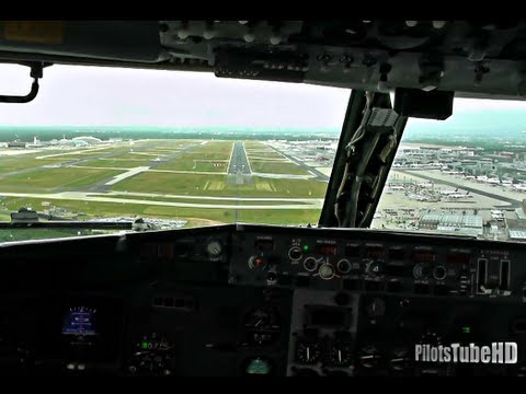 Very Unusual but Awesome Landing in Frankfurt - Cockpit View!