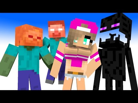 (FUNNY) TOP 4 MINECRAFT Monster School Animations - GIRLS VS BOYS (Best Minecraft Animations) 2017!