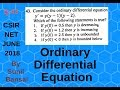 Differential Equation Q.43 || CSIR NET June 2018 || Booklet C, By Sunil Bansal