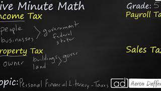 5th Grade Math Personal Financial Literacy - Taxes