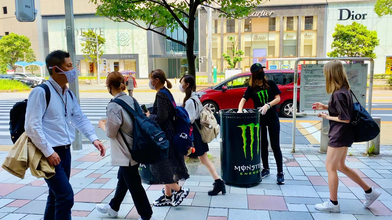 4K Japan Walk - Nagoya Station Outside 8/6/2021 (名古屋駅)