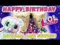 LOL Surprise Dolls Happy Birthday Hatchimals Cake Surprise! With Sugar Queen, Unicorn, & Treasure!