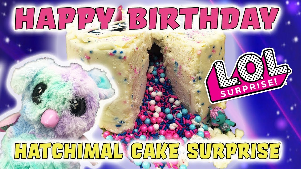 LOL Surprise Dolls Happy Birthday Hatchimals Cake With Sugar Queen Unicorn Treasure