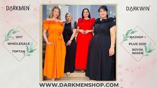 8 06 2021 Часть 2 Показ женской одежды больших размеров DARKWIN от DARKMEN Турция Стамбул Опт