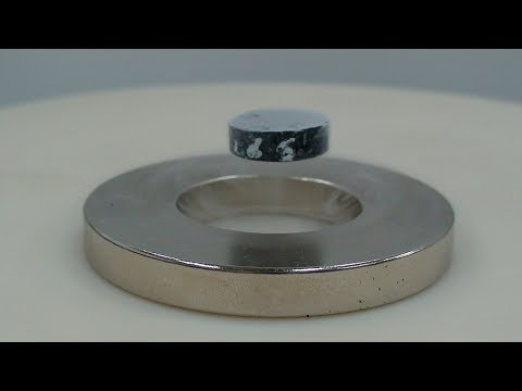 flying magnet - magnetic levitation (floating magnet) experiment - how to levitate a magnet - HD