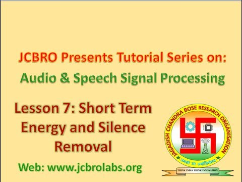 L007: Short Term Energy (STE) calculation and Silence Removal