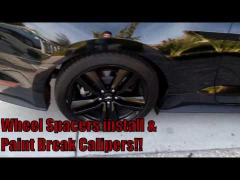 2015 Mustang Wheel Spacers & Paint Break Calipers