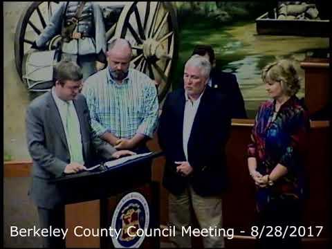 Berkeley County Council Meeting - 8-28-2017