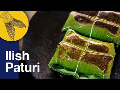 Ilish Macher Paturi | Shorshe diye Ilish Macher Bhapa Recipe | Bengali Hilsa Steamed in Banana Leaf