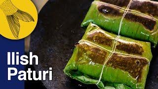 Ilish Macher Paturi   Shorshe diye Ilish Macher Bhapa Recipe   Bengali Hilsa Steamed in Banana Leaf