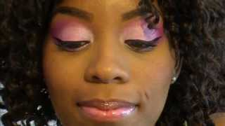 Breast cancer awarness:makeup look Thumbnail